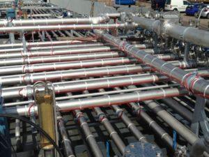 Verwarmingskabel op leiding zonder isolatie