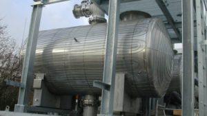 Verwarmingskabel op tank